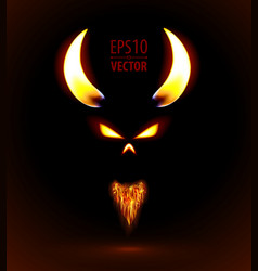 Fire silhouette of devil vector image