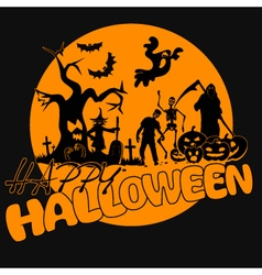 Halloween-yellow-party vector image