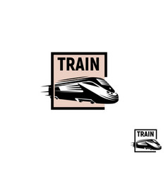 Isolated abstract black color train in pink square vector