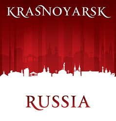 Krasnoyarsk Russia city skyline silhouette vector image
