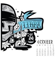 Libra tattoo vector image