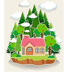 Little house in the forest vector image vector image
