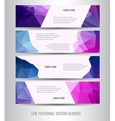 Low polygonal horizontal header vector