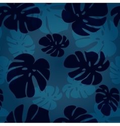 monstera leaf pattern tropical vector image