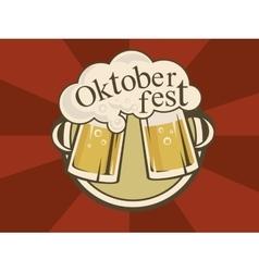 Oktoberfest banner design vector