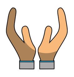 Person hands symbol vector