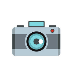 Photo camera icon flat style vector