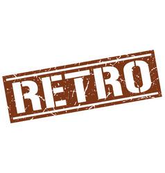 Retro square grunge stamp vector