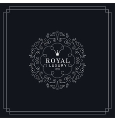Royal luxury emblem vector image