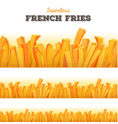 Seamless french fries background vector