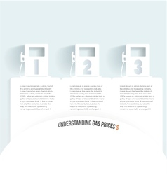 Set of banners with jerrycan gas pump on white vector image