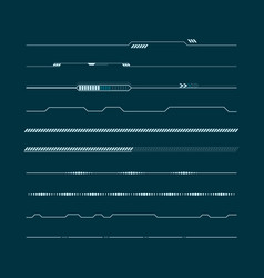 Set of hud lines infographic elements head-up vector