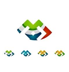 Set of infinity concepts loop logo designs vector