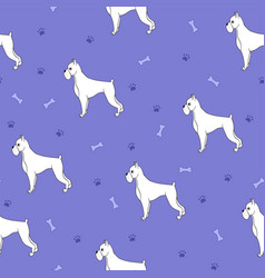 Unusual seamless pattern with cartoon cute dogs vector