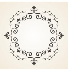 Victorian frame vintage design vector