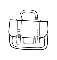 Bag portfolio fashion accessory black and white vector