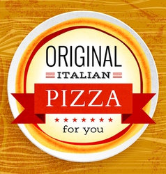 Restaurant menu with pizza vector