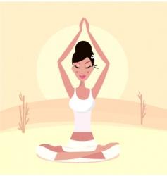 yoga Asian girl  vector image