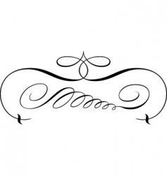 Decorative script vector