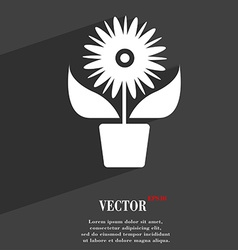 Flowers in pot icon symbol flat modern web design vector