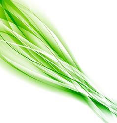 Abstract speed green eco swoosh background vector