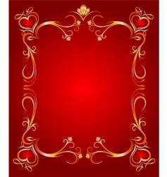 golden heart frame vector image