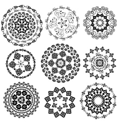 set oriental arabesque vector image