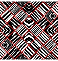 Zebra patchwork vector
