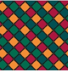 Seamless pattern with color rhombus vector
