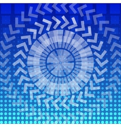 abstract round geometric pattern background vector image vector image