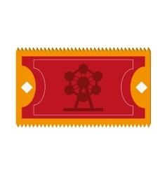 amusement park ticket icon vector image