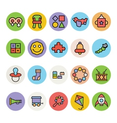 Baby icons 4 vector