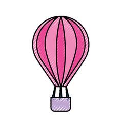 Balloon air hot icon vector