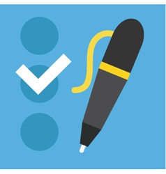 Checklist and Pen Icon vector image