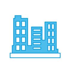 City buildings symbol vector