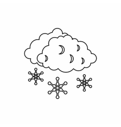 Clouds and snow icon outline style vector image vector image