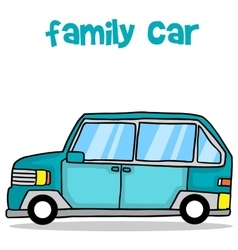 Collection of family car transport vector