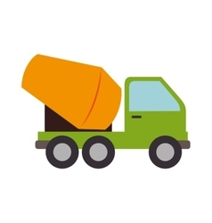 Concrete mixer truck cement icon graphic vector