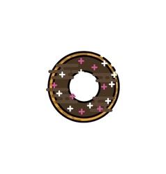 Doughnut flat icon vector image vector image
