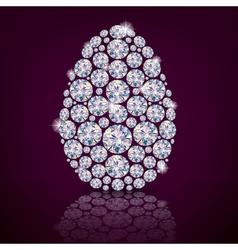 Easter egg diamond vector image vector image