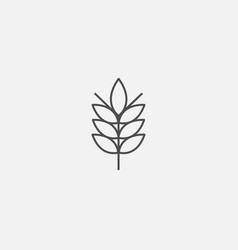 Ecological symbol of eco web line icon vector