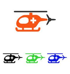 emergency helicopter flat icon vector image vector image