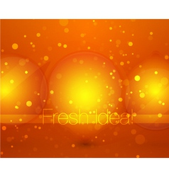 fresh idea vector image vector image