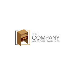 furniture concept logo vector image vector image