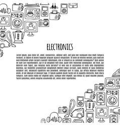 Home electronics sketch icons banner vector