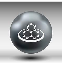 icon molecular research chemistry medicine vector image vector image