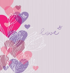 Love background with hearts vector image