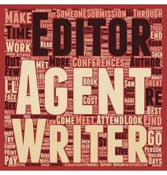 Low cost ways to meet agents editors text vector