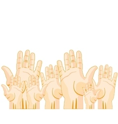 Much raised hands vector