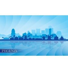 Phoenix city skyline silhouette background vector image vector image